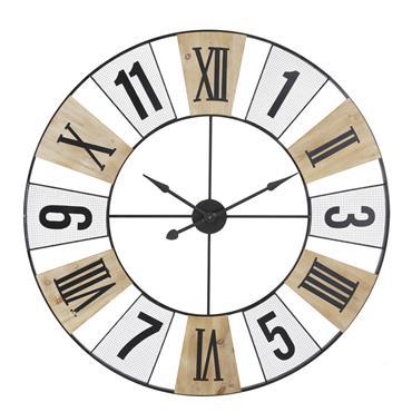 Horloge bicolore en métal ajouré D120