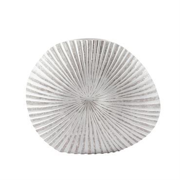 Vase en polyrésine teintée H 55 cm AMMONITE