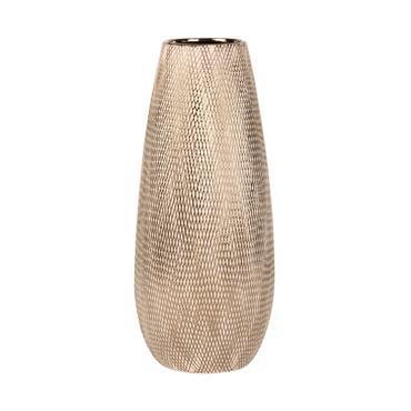 Vase en porcelaine dorée H32