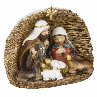 Suspension de Noël crèche 3 personnages en polyrésine