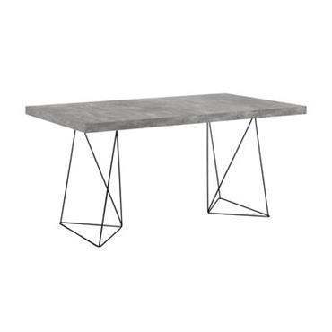 Table Trestle / L 160 cm - Effet béton