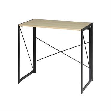 Bureau pliable style industriel - Longueur 100 cm - Marron