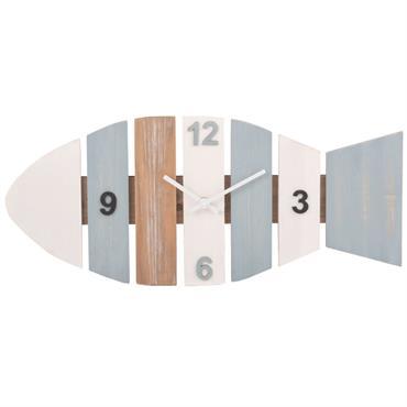 Horloge poisson multicolore 58x25