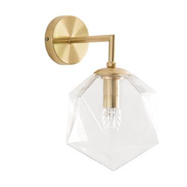 Applique en verre et métal doré