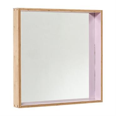 Miroir carré en bois - Bloomingville
