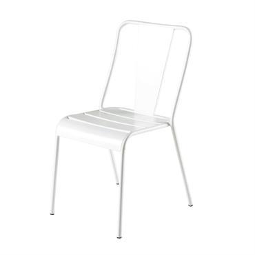 Chaise de jardin en métal blanche Harry's