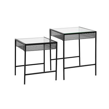 Tables gigognes verre et métal moderne - Nordal