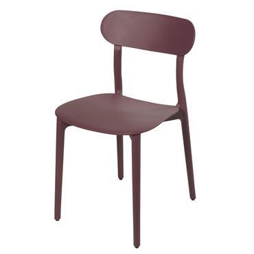 Chaise bordeaux Eve