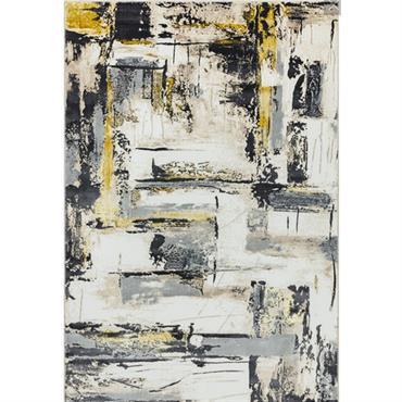 Tapis de salon moderne en Polyester Jaune 160x230 cm