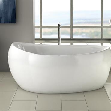 Grande salle de bains, au look épuré et moderne.  Domozoom