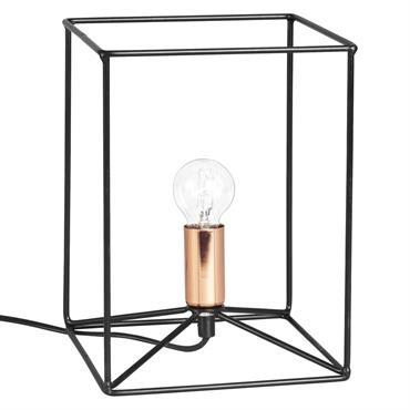 Lampe filaire en métal noir