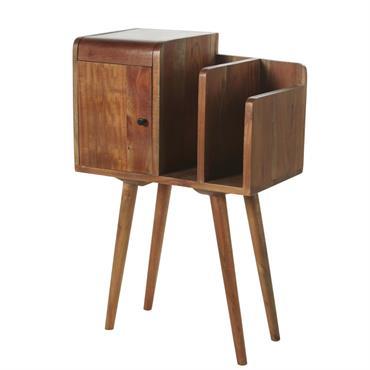 Le petit meuble de rangement en acacia WILLIAM a plus d'un tour dans son sac ! Son look vintage et ses lignes sobres vous permettront de l'intégrer dans tous types ...