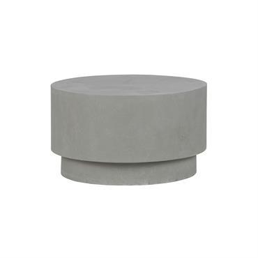 Table basse ronde 60cm intérieur extérieur en argile Gris