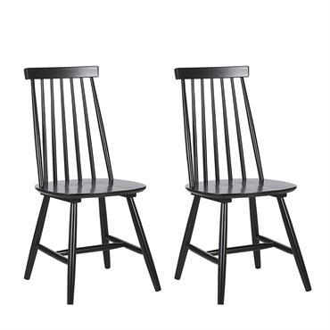 Lot de 2 chaises noires en bois