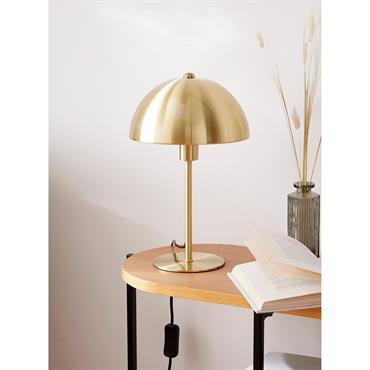 Lampe champignon métal doré