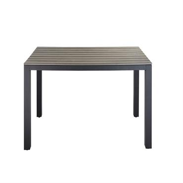 Table de jardin en aluminium gris L 104 cm Escale