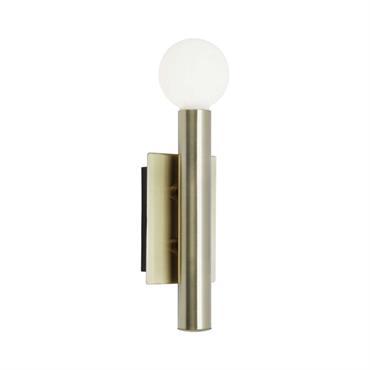 Applique métal/verre H25cm