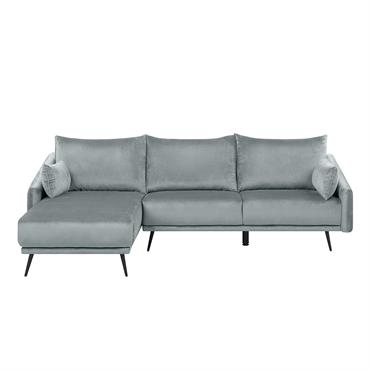 Ce canapé 3 places en velours chic mettra en valeur votre salon avec élégance et sophistication. Les coussins d'assise et de dossier rembourrés procurent un confort absolu, tandis que la ...