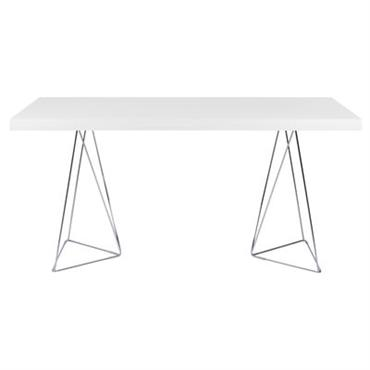 Table Trestle / L 160 cm - POP UP HOME blanc