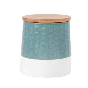 Pot en porcelaine blanche et bleue