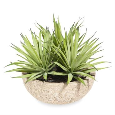 3 yuccas artificiels en pot