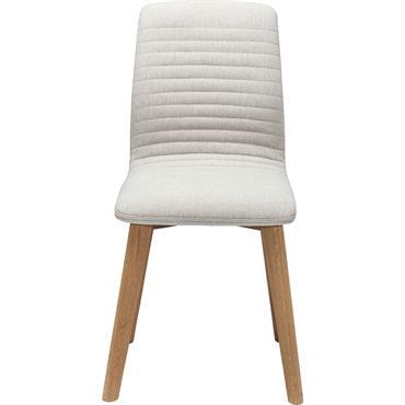 Chaise scandinave écru et chêne