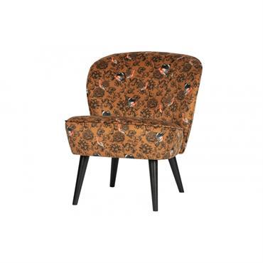 Petit fauteuil en tissu fleuri
