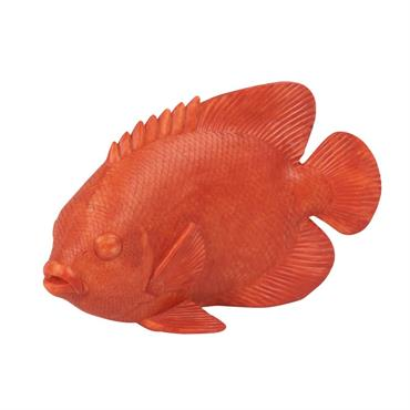 Statuette poisson blanc H13