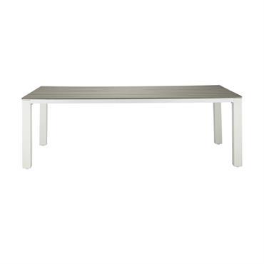 La table de jardin 8/10 personnes en aluminium et composite L230 ESCALE sera idéale pour les familles nombreuses ou pour recevoir beaucoup d'invités ! Son coloris blanc s'accordera très bien ...