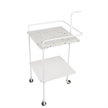 Desserte Confetti / Terrazzo & métal - OK Design pour Sentou Edition blanc