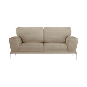 Canapé 2 places toucher coton beige