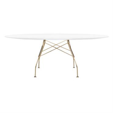 Table Glossy Glass / Ovale - 194 x 120 cm - Plateau