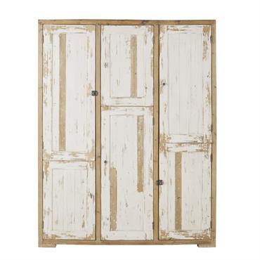 Ce produit est composé à partir de bois récupéré. Ce système permet d'offrir une deuxième vie à la matière première. Le dressing 6 portes en pin recyclé blanc patiné KINFOLK ...