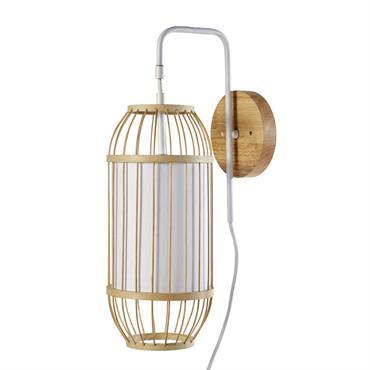 Applique en bambou et toile blanche