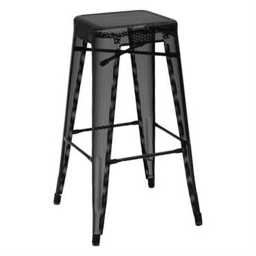 Tabouret de bar H Perforé / H 75 cm - Couleur brillante