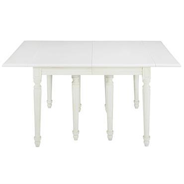 Table à manger extensible en bouleau blanc 12 personnes L280 Louis