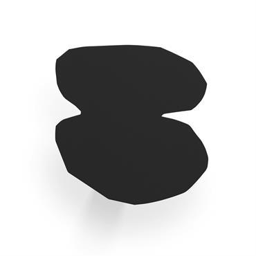 Patère noire H15