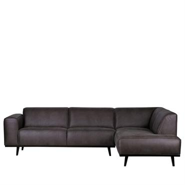 Canapé d'angle droit gris