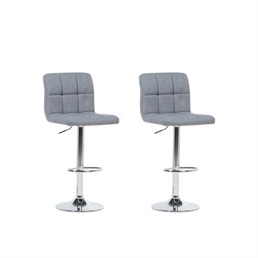 Lot de 2 chaises de bar réglables grises