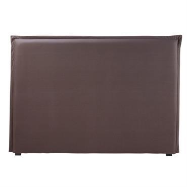Housse de tête de lit 160 en coton gris anthracite