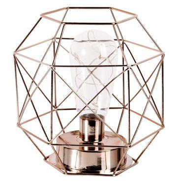 Lampe filaire en métal cuivré