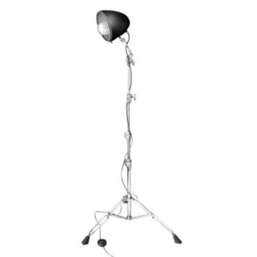 Lampe sur pied - Liseuse ´Rock Light´ - chrome et noir