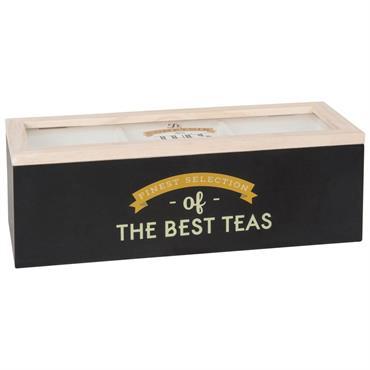 Boîte à thé en pin