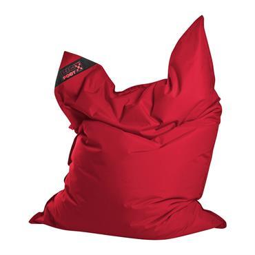 Coussin géant en polyester imperméable rouge