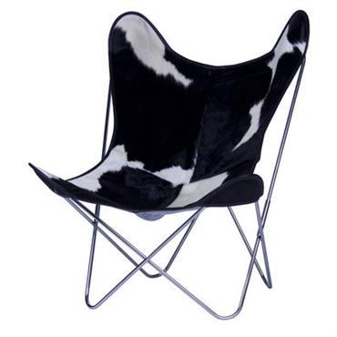Chaise AA Butterfly / Peau de vache - AA-New Design blanc