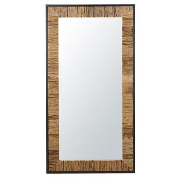 Miroir bicolore en métal noir 90x165