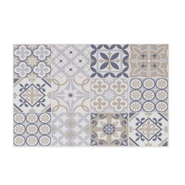 Set de table en vinyle motifs carreaux de ciment multicolores