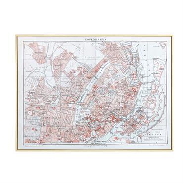 Tableau carte de Copenhague 113x85