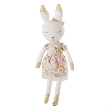 En voilà une mignonnerie ! Le peluche lapin en coton rose APOLLINE deviendra le meilleur ami de votre bout d'chou. Doux et réconfortant, il le charmera dès le premier regard. ...