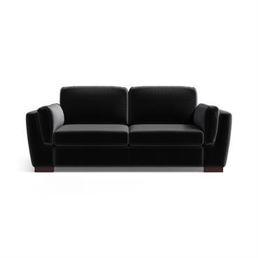 Canapé 2 places en velours noir